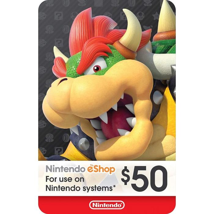 $50 Nintendo eShop Gift Card [Digital Code] - US Eshop
